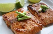 Szechuan Salmon with Asian Greens